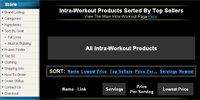 Intra-Workout Products Sorted By Top Sellers