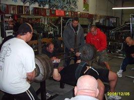 Ben Graves Benching Some Serious Weight.