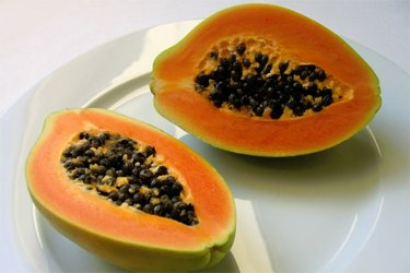 Papain, Found In Papaya, Is Used For Breaking Down Tough Meat Fibers.