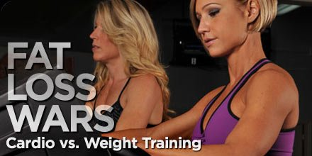 fat loss training wars Whats best for weight loss? Aerobic conditioning or weight training.