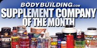 Supplement Company Of The Month