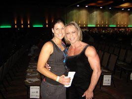 Even Pro Female Bodybuilder Gerri Davis Was There Helping Everyone Apply Their Tans And Sheen.