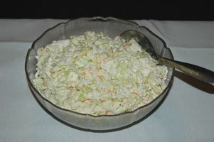 The Cole Slaw Has 50 Grams Of Fat Making It Almost 78 Percent Fat.