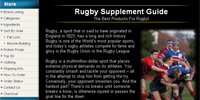 Rugby Supplement Guide