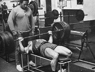 Leon Spotting Franco Columbu At The Original Gold's Gym In 1970.