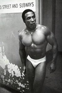 Leon Brown Emerging From The Backstage Entrance Of The Brooklyn Academy Of Music In Pumping Iron.