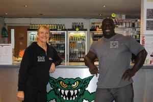 Eddie Abbew & Annie Ottey At Monster Gym Limited.