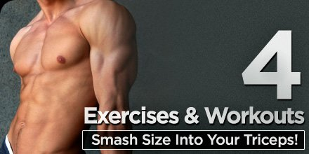 4 Exercises And Workouts Smash Size Into Your Triceps!