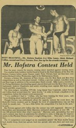 A Newspaper Clipping Of Rick Collins In The Mr. Hofstra Contest.
