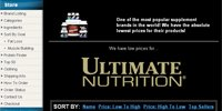 Ultimate Nutrition Products Sorted By Top Sellers