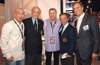 Robin Chang With Ben Weider, Jim Manion,<br />Rafael Santonja, And Eric Weider.