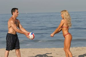 Beach Volleyball Is A Terrific Way To Get A Full Body Workout.
