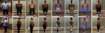 Terence Haynes' Weight Loss Timeline.
