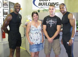 Obi Obadike With Kendall Wood And Some Of The Bodybuilding.com Crew.