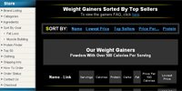 Weight Gainers Sorted By Top Sellers