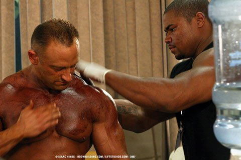 Most Male Bodybuilders Think About Their Color For Tanning Only A Few Days Before Competition.