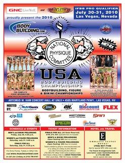 2010 NPC USA Bodybuilding Championships Flyer.