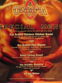 I Was Glad The Country Cafe In The Orleans Casino Featured A Bodybuilder's Menu