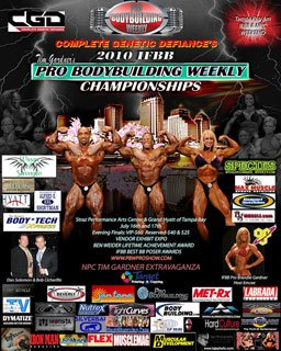 The 2010 IFBB Tampa Pro Bodybuilding Weekly Championships.