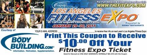2011 LA Fit Expo Printable Coupon