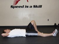 One Leg Flat Foot Sit-Up w/Twist