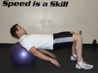 Physio Ball Shoulder Bridge