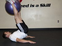Physio Ball Reverse Crunch