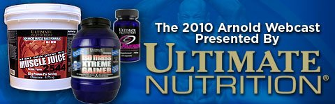 Ultimate Nutrition Presents The 2010 Arnold Webcast