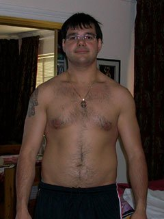 Before His Transformation Gary Was Moderately Lean At 20% Body Fat.