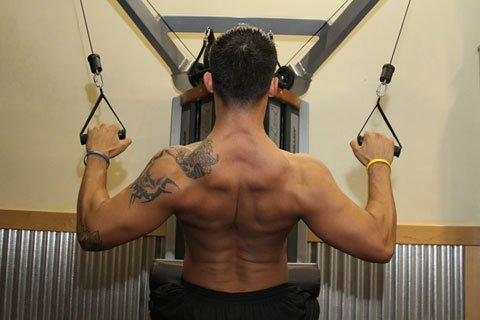 Train The Upper Lats With Exercises Like Pulldowns, Rows And Chin-Ups.
