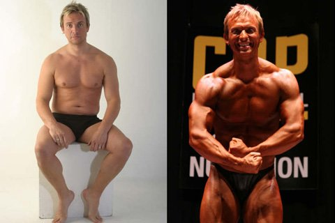 Scott Wright Before And After Training With Kerry Kayes.