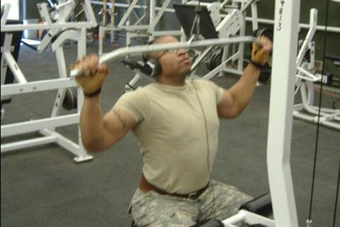SGT J doing back workout