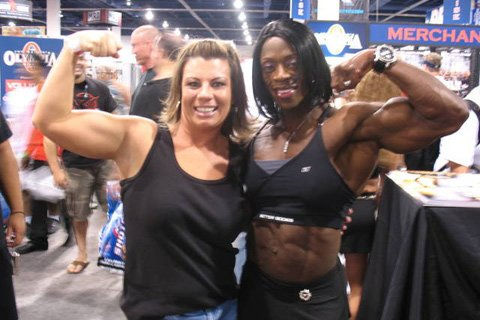 Monica With IFBB Pro Iris Kyle