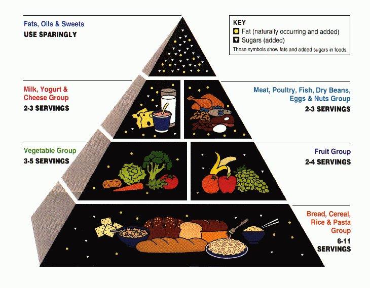 пирамида питания для похудения картинки