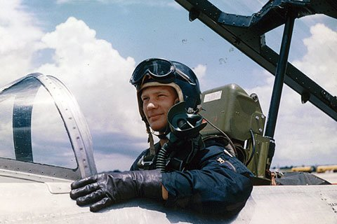 Buzz Eventually Got His Jet Wings And Flew The Saber And Super Saber Jet In The Korean War.