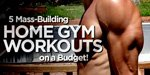 5 Mass-Building Home Gym Workouts On A Budget!