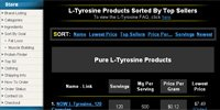L-Tyrosine Products Sorted By Top Sellers