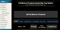 Fat Burner Products Sorted By Top Sellers