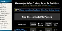 Glucosamine Sulfate Products Sorted By Top Sellers