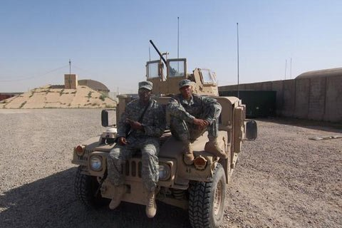 Patrick Hines Pictured Left While On Deployment In Iraq.