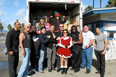 We Just Recently Set A Record For Gathering Items For The 2009 Muscle Beach Toy Drive.