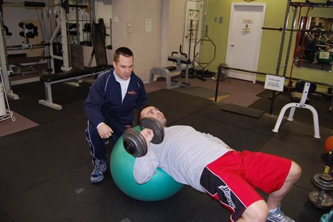 Each Training Session Kevin Is Watching And Evaluating The Client.
