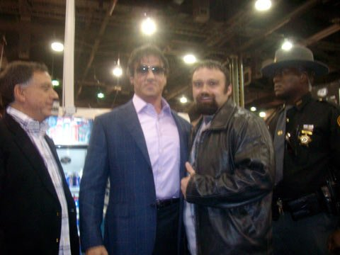 Roger Lockridge And Sylvester Stallone.
