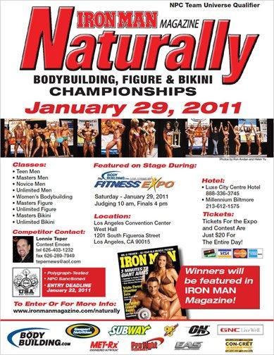 2011 NPC Iron Man Naturally Show Poster
