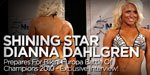 Shining Star Dianna Dahlgren Prepares For Bikini Europa Battle Of Champions 2010 - Exclusive Interview!