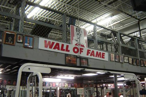 The Wall Of Fame Has Photos Of A Number Of People Who Have Trained Here At USA Gym.