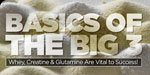 The Big 3: Why Whey, Creatine & Glutamine Are Vital To Your Success!