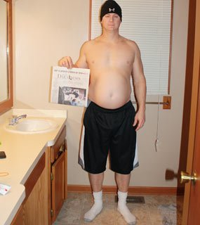 Dan Gaffke's 100K Transformation Challenge before and after photos