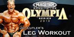 MuscleTech 2010 Road To The Olympia Series: Jay Cutler's Leg Workout.