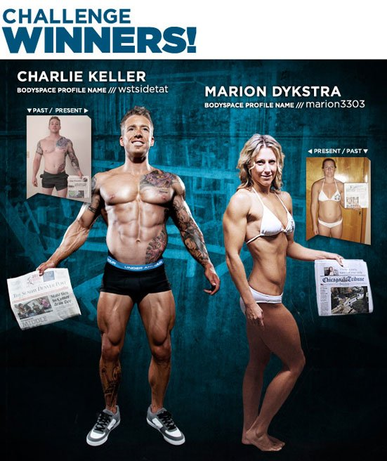 July 2011 BSN Finish First Transformation Challenge Winners Charlie Keller & Marion Dykstra!